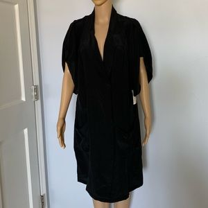 NWT 100% silk shirt dress loose style